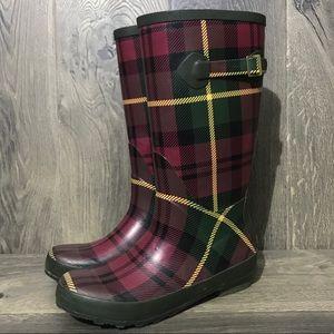 L.L. Bean Wellie Plaid Rain Boot